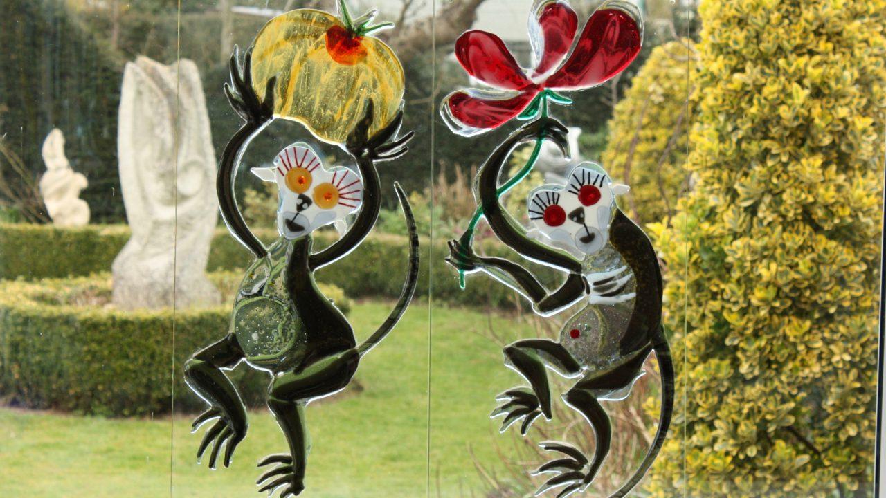 glass monkeys