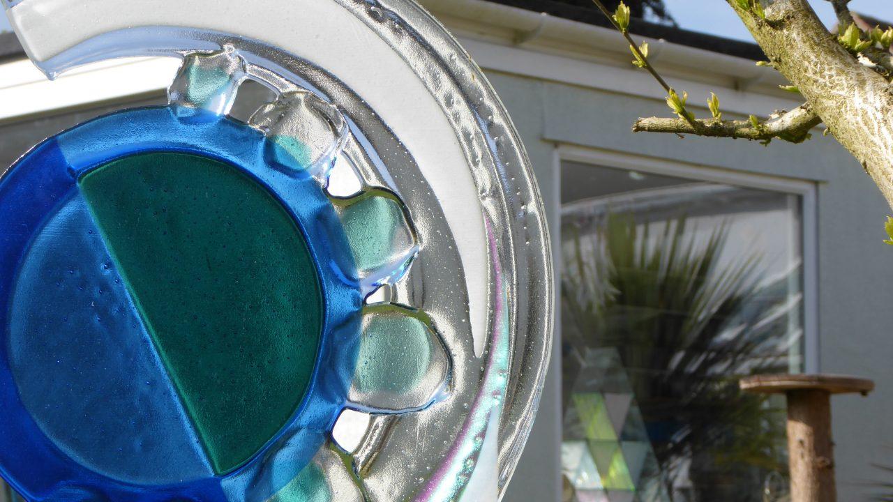 glass in garden